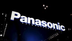 The company logo of Panasonic Corp is seen at CEATEC (Combined Exhibition of Advanced Technologies) JAPAN 2015 in Makuhari, Japan, October 6, 2015. REUTERS/Yuya Shino/Files