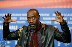 Director Don Cheadle addresses a news conference to promote the movie 'Miles Ahead' at the 66th Berlinale International Film Festival in Berlin, Germany, February 18, 2016.     REUTERS/Fabrizio Bensch