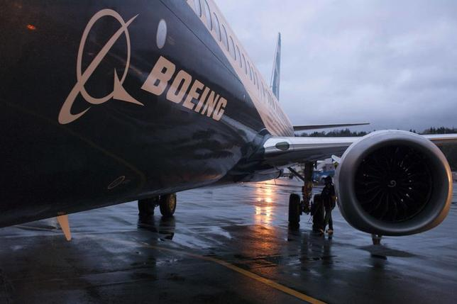 A Boeing 737 MAX sits outside the hangar during a media tour of the Boeing 737 MAX at the Boeing plant in Renton, Washington in this December 8, 2015 file photo.   REUTERS/Matt Mills McKnight/Files
