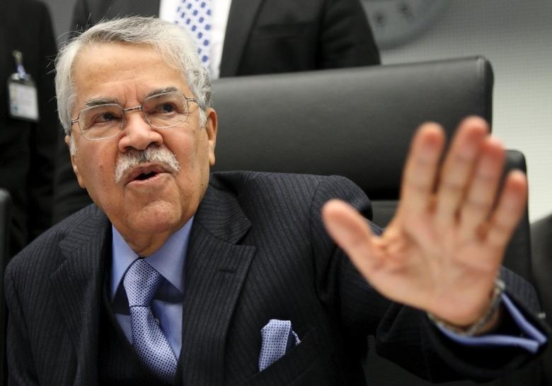 Saudi Arabian Oil Minister Ali al-Naimi talks to journalists before a meeting of OPEC oil ministers at OPEC's headquarters in Vienna in this file picture taken December 4, 2013.  REUTERS/Heinz-Peter Bader/Files