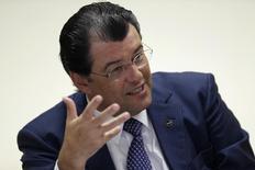 Ministro Eduardo Braga durante entrevista em Brasília.  21/1/2015.  REUTERS/Ueslei Marcelino