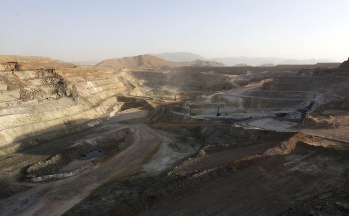 A general view shows the gold, copper and zinc mining pit at the Bisha Mining Share Company, northwest of Eritrea's capital Asmara, February 17, 2016.