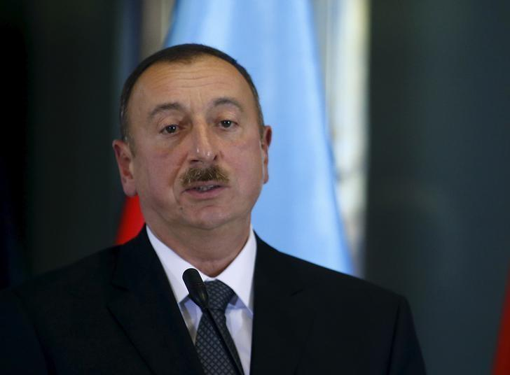 Azerbaijan's President Ilham Aliyev attends a news briefing at the Presidential Palace in Tbilisi, Georgia, November 5, 2015. REUTERS/David Mdzinarishvili