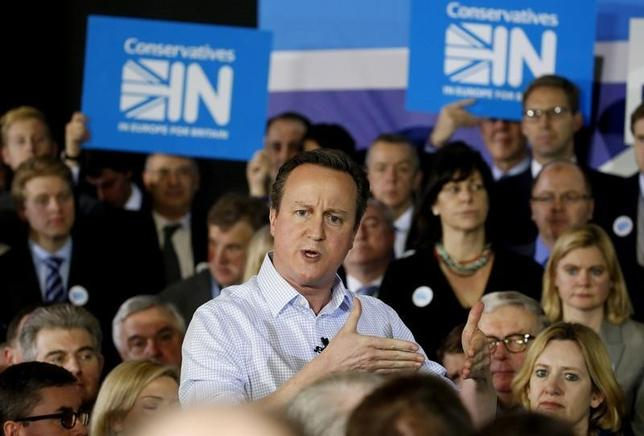 Britain's Prime Minister David Cameron speaks as he launches the official Conservative campaign to stay in the European Union, in London, Britain February 24, 2016. REUTERS/Alex B. Huckle/pool