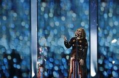 Adele performs at the BRIT Awards at the O2 arena in London, February 24, 2016. REUTERS/Stefan Wermuth