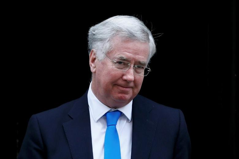 Britain's Secretary of State for Defence, Michael Fallon, leaves Number 10 Downing Street after attending a cabinet meeting in London, Britain February 23, 2016. REUTERS/Stefan Wermuth
