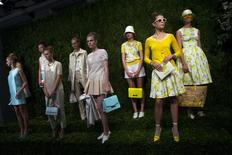 Models present creations from the Kate Spade Spring/Summer 2014 collection during New York Fashion Week in this file photo dated September 6, 2013. REUTERS/Eric Thayer