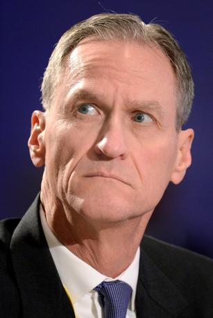 Republican Governor Dennis Daugaard of South Dakota listens to remarks during a ''Growth and Jobs in America'' discussion at the National Governors Association Winter Meeting in Washington, February 23, 2014.   REUTERS/Mike Theiler