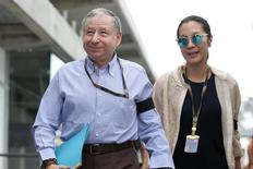 Formula One - F1 - Brazilian Grand Prix 2015 - Autodromo Jose Carlos Pace, Sao Paulo, Brazil - 15/11/15 FIA President Jean Todt with his wife Michelle Yeoh before the race Mandatory Credit: Action Images / Hoch Zwei Livepic