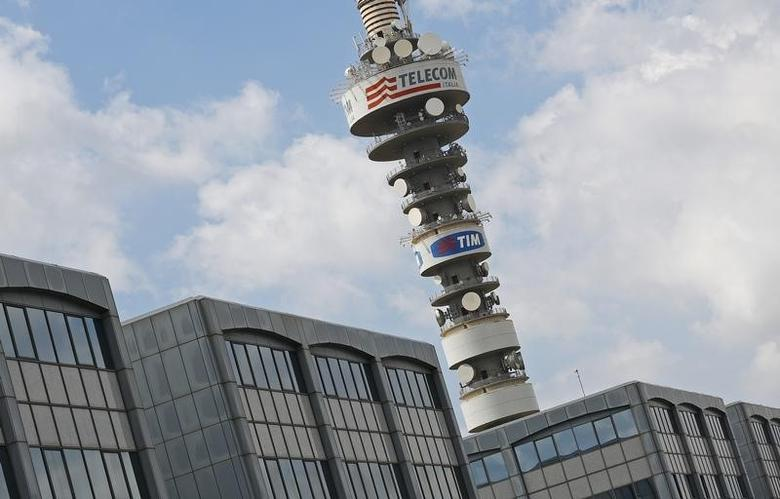 The Telecom Italia tower is seen south of Rome August 28, 2014.  REUTERS/Max Rossi