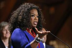 Oprah Winfrey durante discurso em Cambridge, Massachusetts.     30/09/2014     REUTERS/Brian Snyder