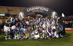 Portland Timbers players pose for a team photo with the MLS Cup after defeating the Columbus Crew in the 2015 MLS Cup championship game at MAPFRE Stadium. Dec 6, 2015; Columbus, OH, USA. Geoff Burke-USA TODAY Sports
