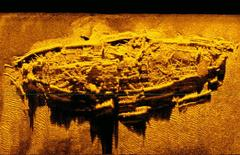 A shipwreck discovered off the coast of North Carolina is likely to be one of three Confederate blockade runners known to have been lost in the area, archaeologists said on Monday.  REUTERS/North Carolina Department of Natural and Cultural Resources/ Handout via REUTERS