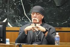 Terry Bollea, known as professional wrestler Hulk Hogan, testifies in his case against the news website Gawker in St. Petersburg, Florida March 7, 2016. REUTERS/Boyzell Hosey/Pool
