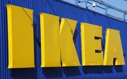View of an IKEA Group logo, the world's biggest furniture retailer, in Roissy-en-France , France, February 29, 2016. REUTERS/Jacky Naegelen