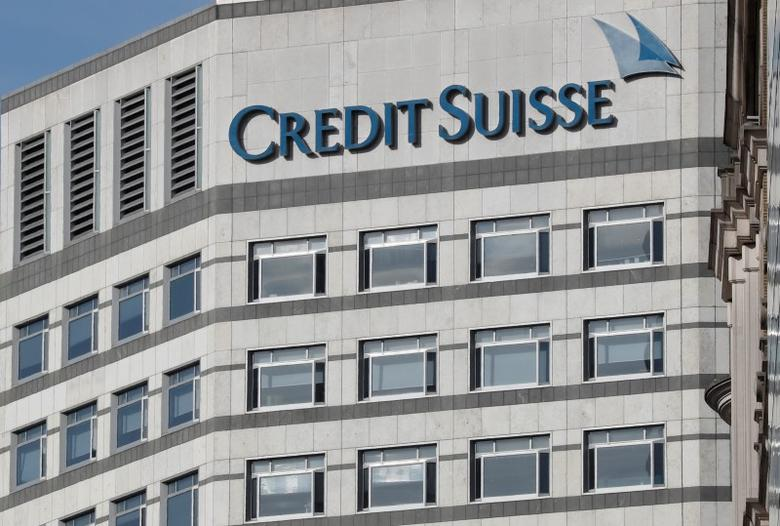 The Credit Suisse logo is seen at their offices at Canary Wharf financial district in London, Britain, March 3, 2016.  REUTERS/Reinhard Krause