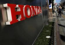 A logo of Honda Motor Co is seen outside the company's dealership in Tokyo, Japan, January 27, 2016. Picture taken January 27, 2016. REUTERS/Yuya Shino