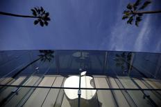 The Apple Store is seen in Santa Monica, California, United States, February 23, 2016.  REUTERS/Lucy Nicholson