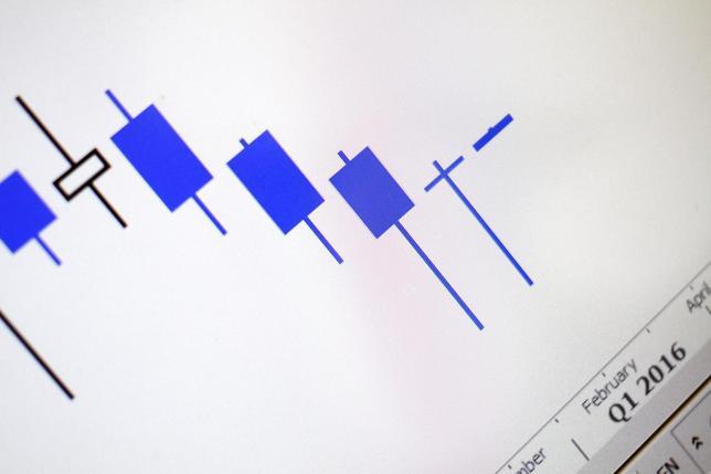 3月11日、国際エネルギー機関(IEA)は、原油価格が底を打った可能性があるとの見解を示した。写真は原油価格の動きを示すスクリーン、1日撮影(2016年 ロイター/Thomas White/Illustration)