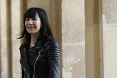 French designer Bouchra Jarrar appears at the end of her Haute Couture Fall/Winter 2014-2015 fashion show in Paris July 8, 2014.       REUTERS/Gonzalo Fuentes