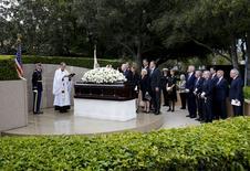 Funeral de Nancy Reagan em Simi Valley, na Califórnia. 11/3/2016.  REUTERS/Mike Blake