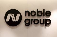 The company logo of Noble Group is displayed at its office in Hong Kong, China January 22, 2016. REUTERS/Bobby Yip