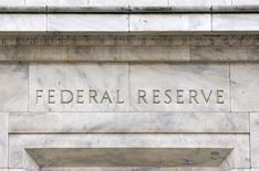 En la imagen de archivo, una vista panorámica de la fachada del edificio de la Reserva Federal de EEUU, situada en Washington, el 18 de marzo de 2008. REUTERS/Jason Reed