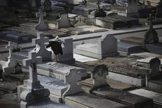 La Junta de Gobierno del Ayuntamiento de Madrid dio el jueves el paso definitivo para la creación de una nueva empresa, cien por cien municipal, que recuperará la gestión de los servicios funerarios actualmente en manos de una sociedad mixta. En la imagen, una mujer camina en el cementerio de La Almudena en Madrid, 1 de noviembre de 2013. REUTERS/Susana Vera