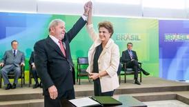 Presidente Dilma Rousseff durante cerimônia de posse do ex-presidente Luiz Inácio Lula da Silva, no Palácio do Planalto.    17/06/2016       REUTERS/Roberto Stuckert Filho/Brazilian Presidency/Handout via Reu/ers