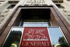 L'assureur italien Generali a fait état vendredi, jour de prise de fonctions de son nouvel administrateur délégué Philippe Donnet, d'un bénéfice net 2015 en hausse de 22% et d'un renforcement de ses fonds propres. /Photo prise le 8 février 2016/REUTERS/Alessandro Bianchi