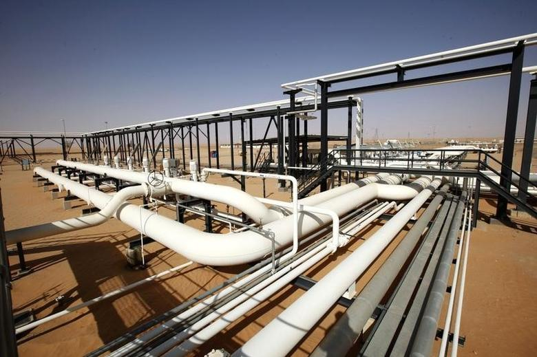 Pipes are pictured at Libya's El Sharara oilfield December 3, 2014.  REUTERS/Ismail Zitouny