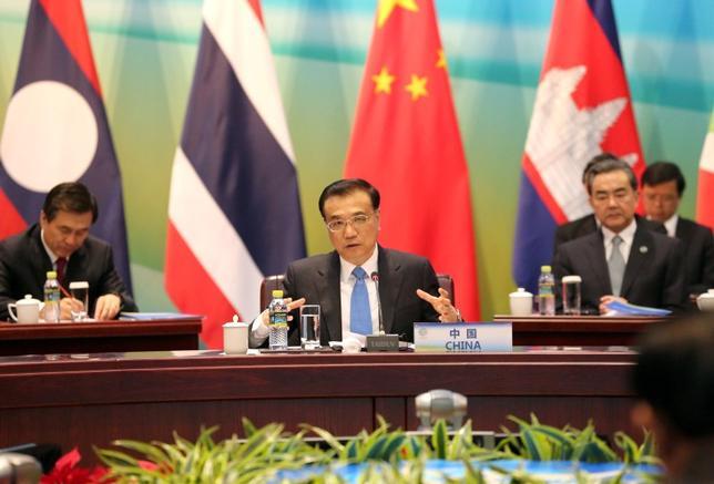 China's Premier Li Keqiang speaks during Lancang-Mekong cooperation leaders' meeting in Sanya, Hainan province, China, March 23, 2016. REUTERS/China Daily