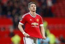 Capitão da seleção alemã, Bastian Schweinsteiger, durante partida pelo Manchester United.  13/03/2016 Action Images via Reuters / Carl Recine Livepic