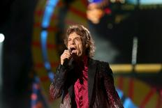 Mick Jagger of the Rolling Stones performs a free outdoor concert at Ciudad Deportiva de la Habana sports complex  in Havana, Cuba March 25, 2016. REUTERS/Alexandre Meneghini