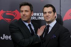 Cast members Ben Affleck (L ) and Henry Cavill attend New York premiere of 'Batman V Superman: Dawn Of Justice' at Radio City Music Hall in New York, March 20, 2016. REUTERS/Eduardo Munoz