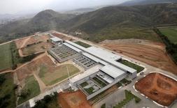 Imagem aérea das obras do Centro Olímpico de Tiro, no Complexo de Deodoro, no Rio de Janeiro, em 29/07/2015. REUTERS/Ricardo Moraes