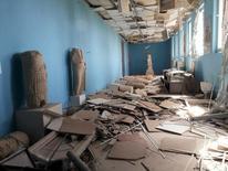 Destroços em museu na cidade histórica de Palmira, Síria.    27/03/2016     REUTERS/SANA/Handout via Reuters