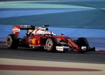 Formula One - Bahrain F1 Grand Prix - Sakhir, Bahrain - 02/04/16 - Ferrari F1 driver, Sebastian Vettel of Germany drives during qualifying session for Bahrain F1 GP. REUTERS/Hamad I Mohammed/Files