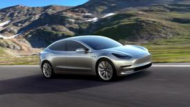 A Tesla Motors mass-market Model 3 electric car is seen in this handout picture from Tesla Motors on March 31, 2016. REUTERS/Tesla Motors/Handout via Reuters