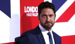 "Cast member Gerard Butler poses at the premiere of the movie ""London Has Fallen"" at the ArcLight Cinerama Dome in Los Angeles, California March 1, 2016.   REUTERS/Mario Anzuoni"