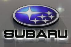 Логотип Subaru на международном автошоу в Бангкоке. Японский производитель автомобилей Subaru отзывает 4.526 автомобиелй Subaru Tribeca в РФ из-за возможной неисправности замка капота, говорится в сообщении Росстандарта. REUTERS/Chaiwat Subprasom