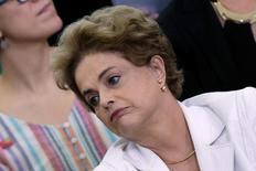 Presidente Dilma Rousseff durante evento no Palácio do Planalto. 12/4/2016. REUTERS/Ueslei Marcelino