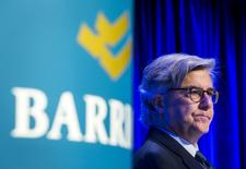 Barrick Gold Corp Chairman of the board John Thornton looks on during their annual general meeting for shareholders in Toronto, April 28, 2015. REUTERS/Mark Blinch