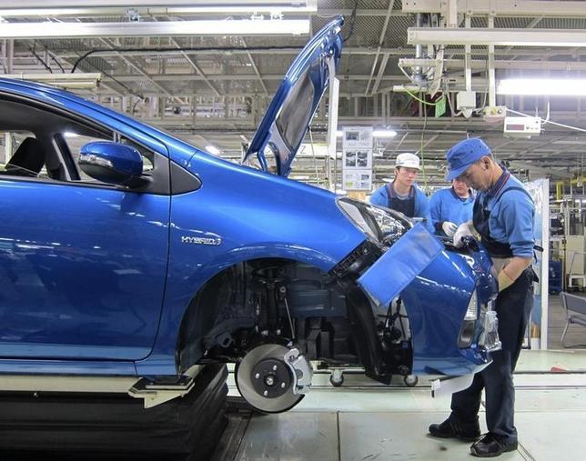 4月19日、熊本地震の影響で、トヨタ自動車が全国各地で生産停止に追い込まれている。部品調達が滞っているためだ。写真は2012年3月岩手県の同社系列工場で撮影(2016年 ロイター/Chang-Ran Kim)