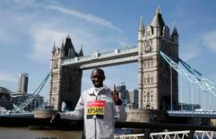 Athletics - 2016 Virgin Money London Marathon Preview - London - 20/4/16 Kenya's Wilson Kipsang poses ahead of the 2016 Virgin Money London Marathon Action Images via Reuters / Peter Cziborra