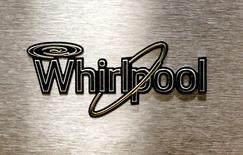 A Whirlpool logo is seen on a range door at the Whirlpool manufacturing plant in Cleveland, Tennessee August 21, 2013.  REUTERS/Chris Berry