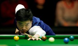 Snooker - Dafabet Masters - Alexandra Palace - 10/1/16 Ding Junhui in action during the first round Mandatory Credit: Action Images / Peter Cziborra