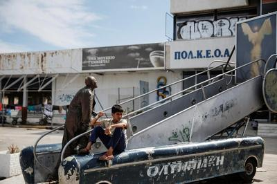 Stranded in Athens' ghost airport