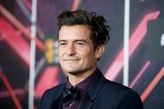 Actor Orlando Bloom, recipient of the Britannia Humanitarian Award, poses at the Britannia Awards hosted by BAFTA Los Angeles in Beverly Hills, California, October 30, 2015. REUTERS/Danny Moloshok