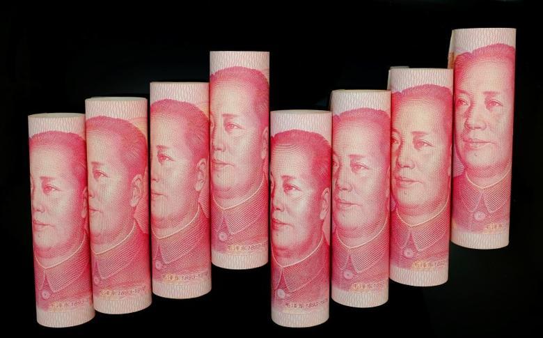 2013年11月5日,图为在北京拍摄的百元面值的人民币纸币。REUTERS/Jason Lee